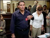 Rafael Izquierdo arrives in court in Miami