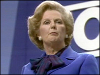 Margaret Thatcher at the 1980 party conference