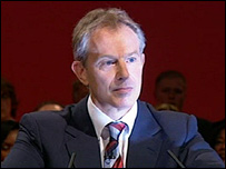 Tony Blair at the 2006 party conference