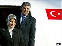 Abdullah Gul and his wife