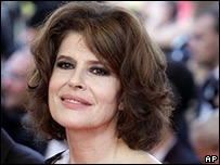 Fanny Ardant at the Cannes Film Festival