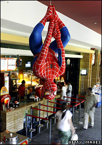Spiderman model in cinema, Getty Images
