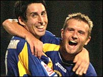 Cardiff's Peter Wittingham and Stephen McPhail