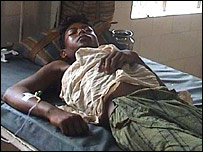 A cholera patient in Orissa