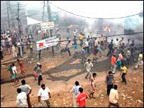 Riots in Agra (Pic: Vivek Jain)
