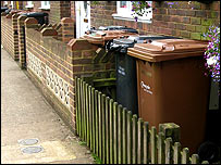 Test Valley Borough Council bins