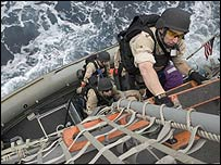 US Navy on exercise