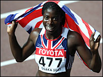Christine Ohuruogu wins gold in the 400m
