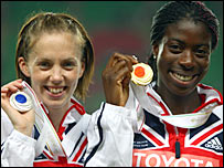 Nicola Sanders (left) and Christine Ohuruogu
