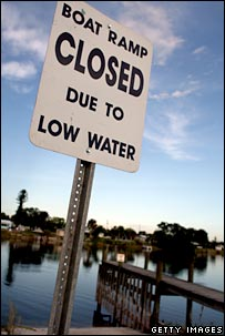 Sign at lake. Image: Getty