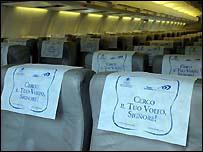 Avión de la aerolínea Mistral, del Vaticano