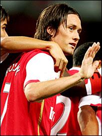 Arsenal goalscorer Tomas Rosicky