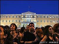 Protest in  Athen's Syndagma square