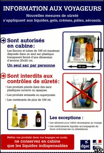 French airport security poster