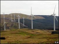 Wind farm in Ceredigion, west Wales