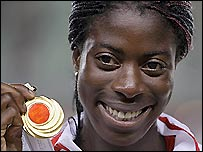 British 400m world champion Christine Ohuruogu