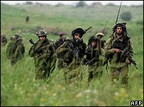 Israeli army troops