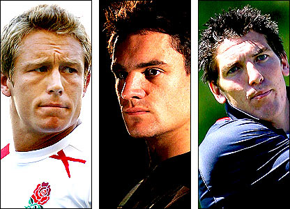 Jonny Wilkinson, Dan Carter and James Hook