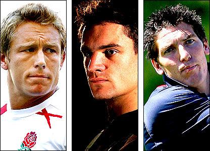 Jonny Wilkinson, Dan Carter and James Hook