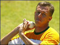 Former South African Test bowler Steve Elworthy