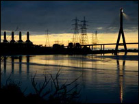 Flintshire Bridge and Connah's Quay Power Station