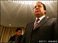 Ex-leader of Pakistani Nawaz Sharif speaking in London 30/08