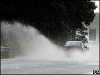 Wet road. Image: PA