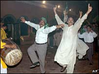 Sharif supporters dance with joy in Lahore