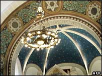 Interior view at the Rykestrasse synagogue