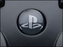 Close-up of PlayStation controller, Sony