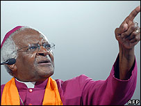 Former South African Archbishop Desmond Tutu