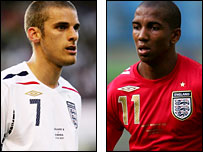 David Bentley and Ashley Young