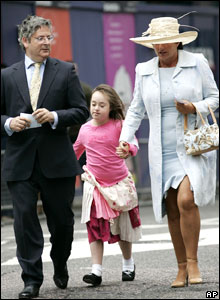 Rosa Monckton, Dominic Lawson and their daughter Domenica