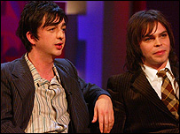 Danny Goffey and Gaz Coombes from Supergrass
