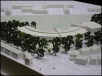 A model of the new college building