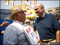 Fred Thompson meets voters at Iowa State Fair