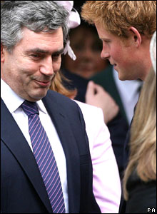 Prime Minister Gordon Brown and Prince William