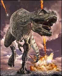 Artist's concept of T. rex (BBC)