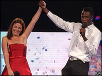 Big Brother winner Brian Belo with host Davina McCall