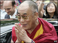The Dalai Lama on a visit to Germany in July 2007