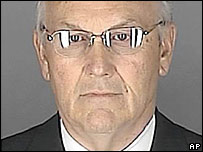 Police photo of Larry Craig taken at the time of his arrest