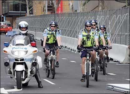 Police patrol in Sydney