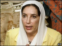 Benazir Bhutto in London - 1/9/07