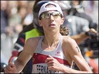 Portuguese triathlete Vanessa Fernandes