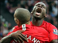 Louis Saha got the winner at Old Trafford