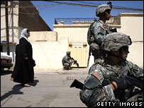 US troops on patrol in Iraq