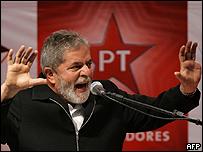 Luis In�cio Lula da Silva, presidente de Brasil