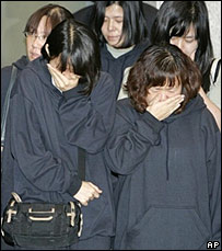 South Korean former hostages arrive at Incheon airport in South Korea