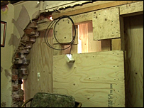 Damage at the house