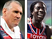 UK Athletics performance director Dave Collins and 400m champion Christine Ohuruogu